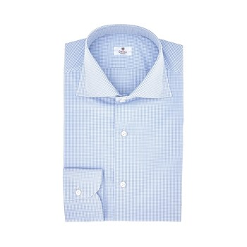 Oriali-camicie-camicia-uomo-popeline-quadretto-bianco-celeste