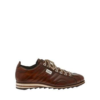 Scarpa-Sneakers-Pelle-Marrone-Invecchiato-Harris-