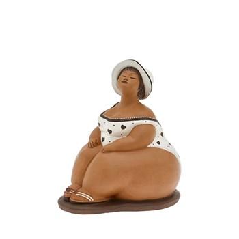 Terracotte-Elena-Cicciotta-Grande-Costume-Da-Bagno-Cuori-Marrone