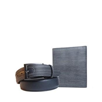 set portafoglio+cintura valpel legno