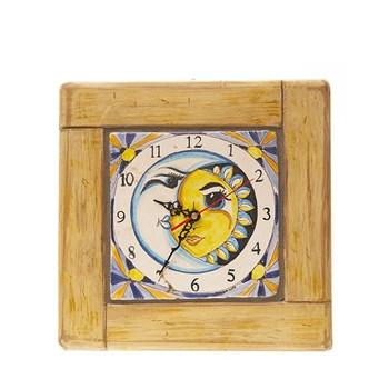 orologio sole/luna Maioliche-Lupo